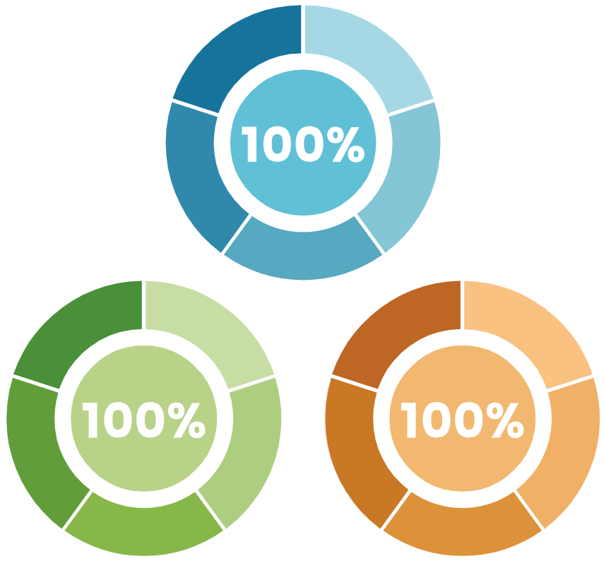 Three core objectives, showing 100% complete